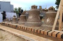 Освящение колоколов для звонницы монастыря